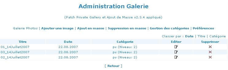 Patch Private Gallery v2.3.4 et Ajout Massif